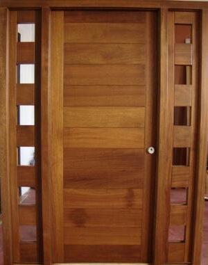 M herradura for Puertas entrada madera maciza precios