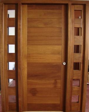 M herradura for Puertas de madera modernas para exterior